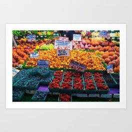 pike place fruit Art Print