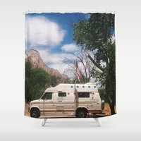 america Shower Curtains featuring America by Lauren Ogard