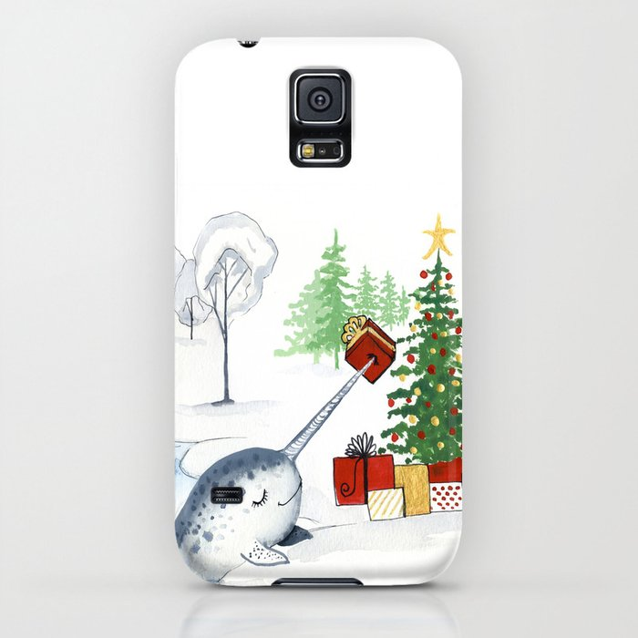 christmas narwhal iphone case by teekastreasures society6
