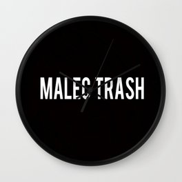 Malec Trash Wall Clock