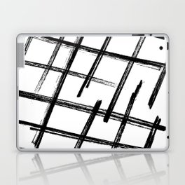 Criss Cross B+W Print Laptop & iPad Skin