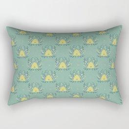 The Neighborhood Buzz - Light Green Rectangular Pillow