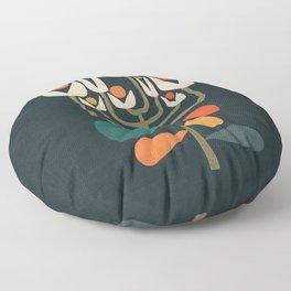 Retro botany Floor Pillow