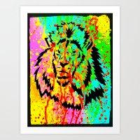 Gold Lion Grr Art Print