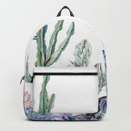 Desert Gemstone Oasis White Backpack