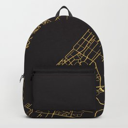 DUBAI UAE GOLD ON BLACK CITY MAP Backpack