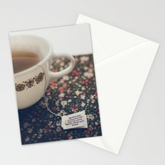 listen to your tea II Stationery Cards
