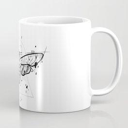 Moth Handmade Drawing, Made in pencil and ink, Tattoo Sketch, Tattoo Flash, Blackwork Coffee Mug