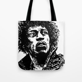 Jimi Hendrix Pop-Art Tote Bag