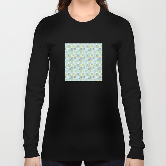 Pastel Squares Long Sleeve T-shirt