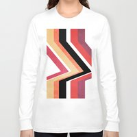 airplanes Long Sleeve T-shirts featuring geometric   by mark ashkenazi