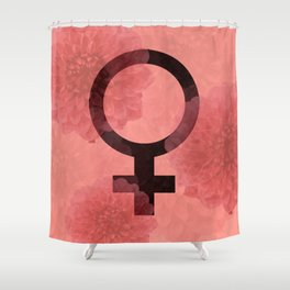 Female Symbol Shower Curtain