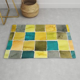 Fashion Color Trend 2021  Watercolor Pattern Rug