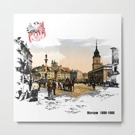 Poland, Warsaw 1890-1900 Metal Print