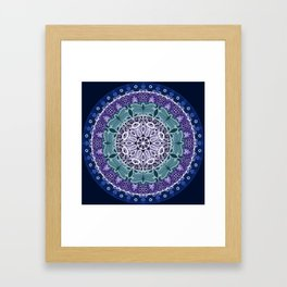 Dragonfly Mandala Framed Art Print