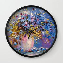 Bouquet of cornflowers Wall Clock