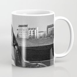 Reconciliation sculpture in East Berlin Coffee Mug