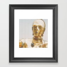 C3P0 - StarWars - Pantone Swatch Art Framed Art Print