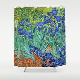 Vincent Van Gogh Irises Painting Shower Curtain