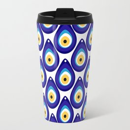 Evil eye protection pattern Travel Mug