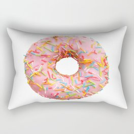 Single pink donut Rectangular Pillow