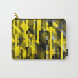 abstract composition in yellow and grays Carry-All Pouch