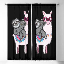 Sloth Llama Music Blackout Curtain