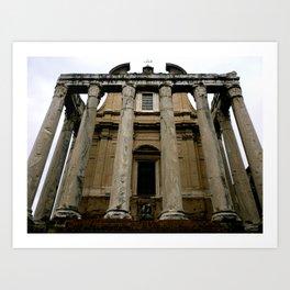 Temple of Antoninus (Rome, Italy) Art Print