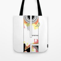 typo Tote Bags featuring e typo by Tombst0ne