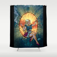 frames Shower Curtains featuring Dame of Frames by David Miley