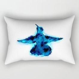 Blue Hummingbird Rectangular Pillow