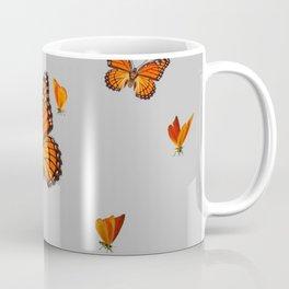 FLOCK OF ORANGE MONARCH BUTTERFLIES ART Coffee Mug