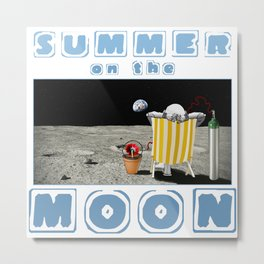 Summer on the Moon Metal Print