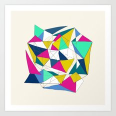 Geometric World Art Print