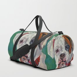 Boxer Dog Portrait Duffle Bag