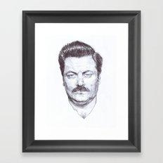 Ron Fucking Swanson Framed Art Print