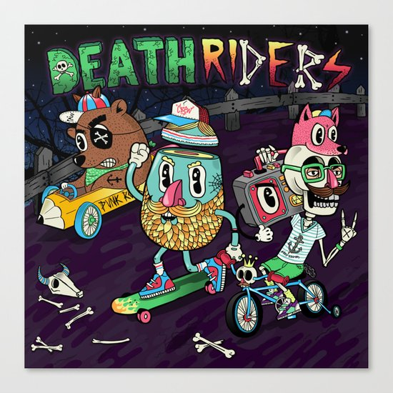Death Riders Canvas Print