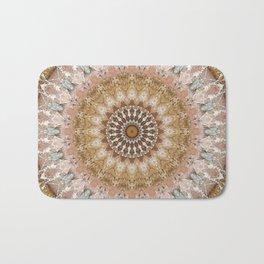 Mandala tender pink Bath Mat