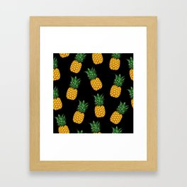 Pineapple Black Framed Art Print