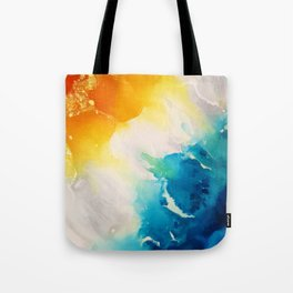 Costal Bright Summer Beach Abstract Tote Bag