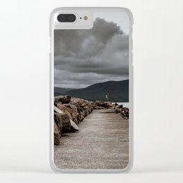 Long Solid Wharf Clear iPhone Case