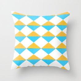 Diamonds Soles Shoes Yellow Blue Throw Pillow