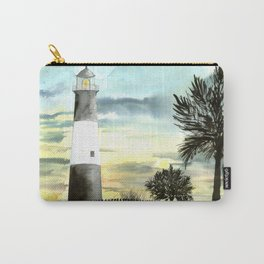 Tybee Island Lighthouse Nautical Art Carry-All Pouch