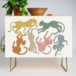 Rainbow Cheetah Credenza