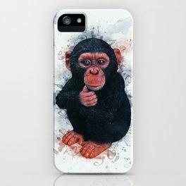 Chimpanzee Art iPhone Case