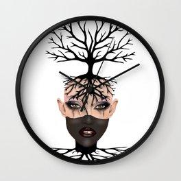 Tree Tribe girl Wall Clock