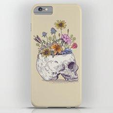 Half Skull Flowers Slim Case iPhone 6s Plus
