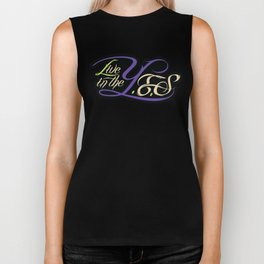 Live In The YES Logo Biker Tank
