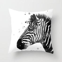 Zebra Ink Spot Throw Pillow