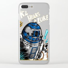 R2 Hears A Luke T-Shirt Clear iPhone Case